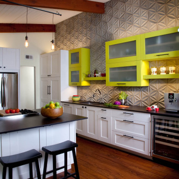 Here is a fun little kitchen we just wrapped up.